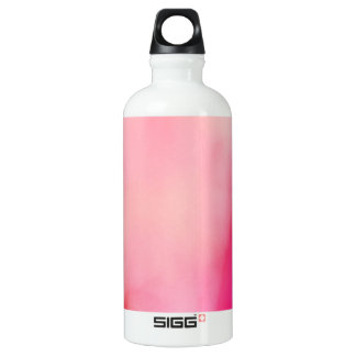 Abstract Watercolor Pink Coral Orange Colorful Water Bottle