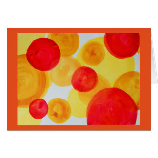 Abstract watercolor spheres card