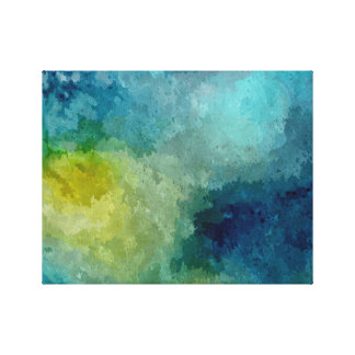 Abstract Watercolor Splatter Canvas Print