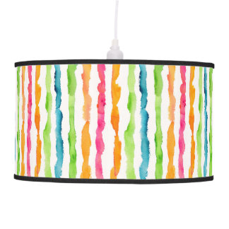 Abstract Watercolor Stripes Pendant Lamp
