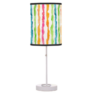 Abstract Watercolor Stripes Table Lamp