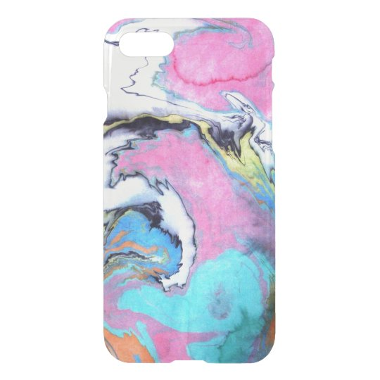 Abstract Watercolor Swirl iPhone 7 Case