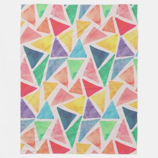 Abstract Watercolor Triangles | Fleece Blanket