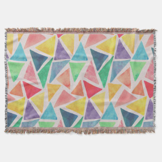 Abstract Watercolor Triangles   Throw Blanket