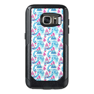 Abstract Watercolor Tropical Leaf Pattern OtterBox Samsung Galaxy S7 Case
