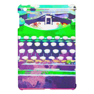 Abstract Watercolor - Vintage Typewriter iPad Mini Cases