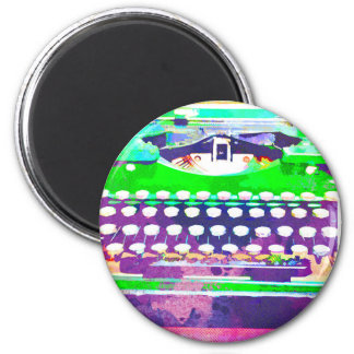 Abstract Watercolor - Vintage Typewriter Magnet