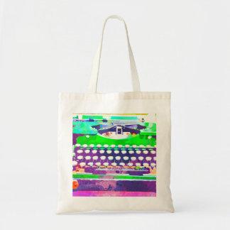 Abstract Watercolor - Vintage Typewriter Tote Bag