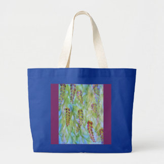 Abstract watercolor wisteria large tote bag