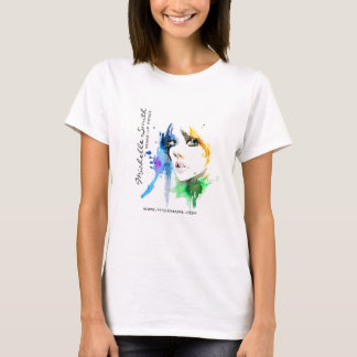 Abstract Watercolor woman makeup artist branding T-Shirt