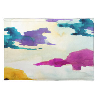 Abstract Watercolour Colour Painting Placemat
