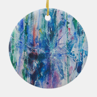 Abstract Waterfall Ceramic Ornament