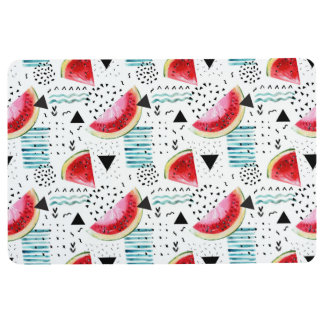 Abstract Watermelon Pattern Floor Mat