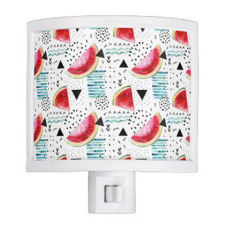 Abstract Watermelon Pattern Nite Light