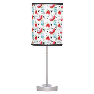 Abstract Watermelon Pattern Table Lamp
