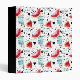 Abstract Watermelon Pattern Vinyl Binder