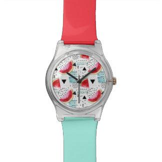 Abstract Watermelon Pattern Watch