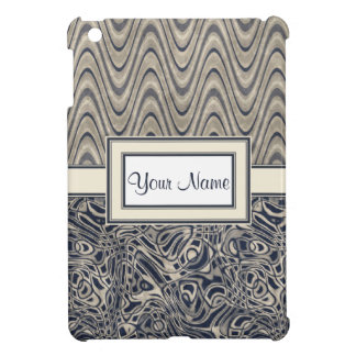 Abstract Watery Blue Waves and Swirls Patterns iPad Mini Cases