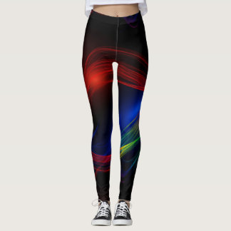 Abstract Wave Leggings