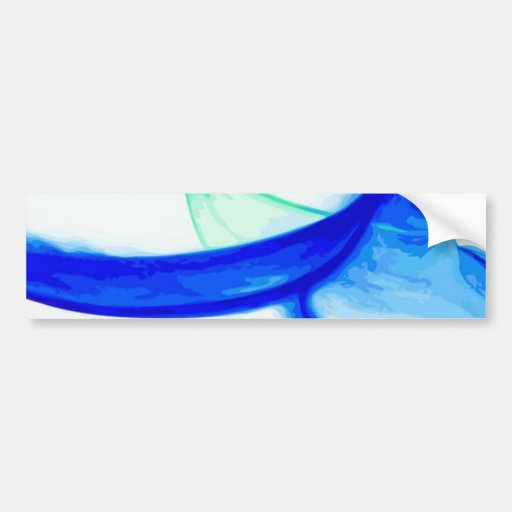 Abstract Waves Bumper Stickers