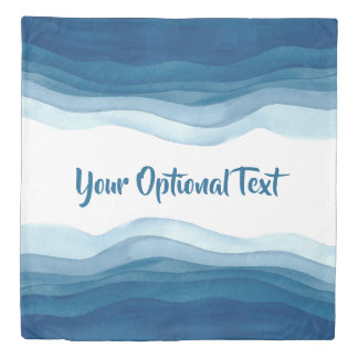 Abstract Waves custom text duvet covers