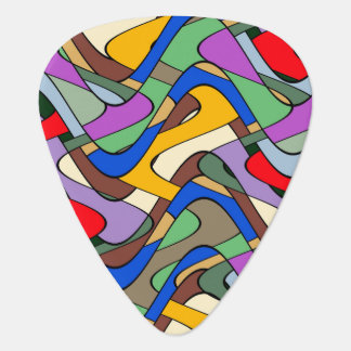 Abstract Waves Guitar Pick