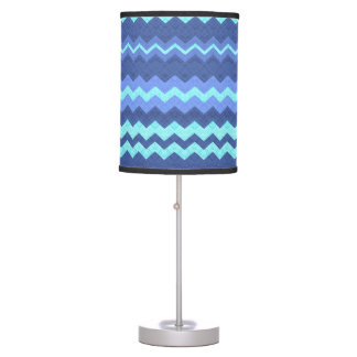 Abstract Waves of Pastel Blue Lamp
