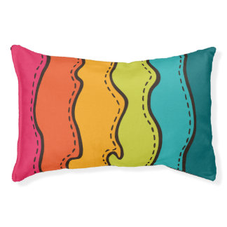 Abstract Waves Pattern Pet Bed