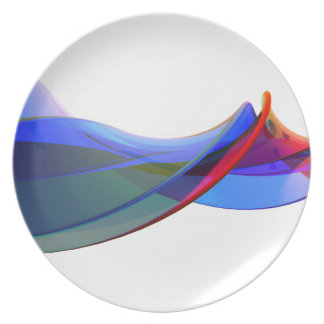 Abstract waves plate