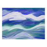 Abstract Waves Poster