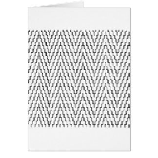 Abstract Wavy Indonesian Textile Card
