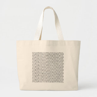 Abstract Wavy Indonesian Textile Large Tote Bag
