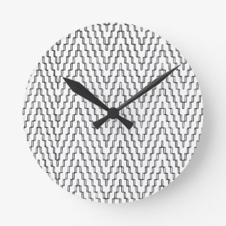 Abstract Wavy Indonesian Textile Round Clock