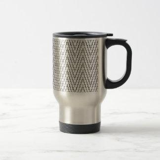 Abstract Wavy Indonesian Textile Travel Mug