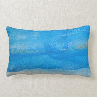 abstract weathered aqua paint pattern lumbar pillow