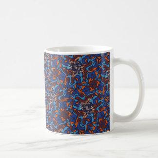 Abstract whimsical bird rustic pattern coffee mug