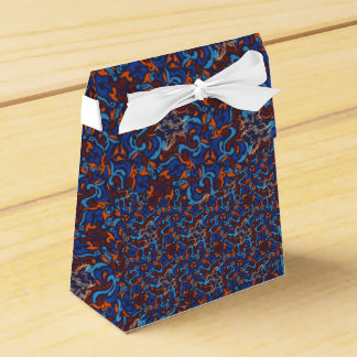 Abstract whimsical bird rustic pattern wedding favor boxes