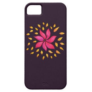 Abstract Whimsical Watercolor Pink Flower Case For The iPhone 5
