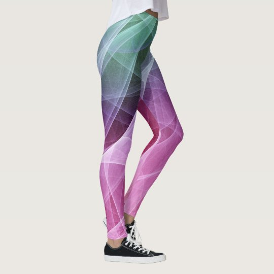 Abstract Whirlpool Computer Art Leggings