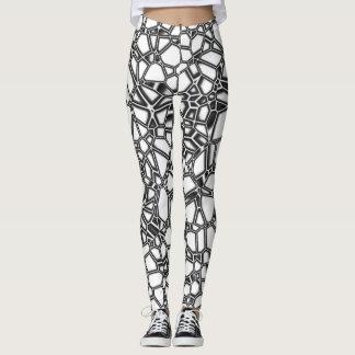 Abstract White Black Gothic Kryptonite Leggings