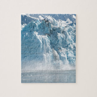 Abstract white ice Alaska mountains Jigsaw Puzzle