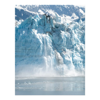 Abstract white ice Alaska mountains Letterhead