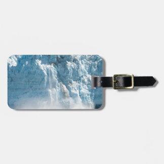 Abstract white ice Alaska mountains Luggage Tag