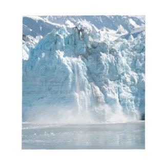Abstract white ice Alaska mountains Notepad