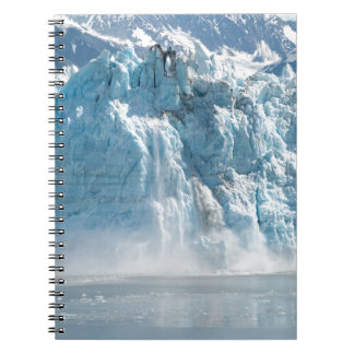 Abstract white ice Alaska mountains Spiral Notebook
