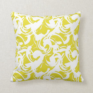 Abstract White Pattern Pillow