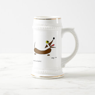 Abstract Wiener Dog Stein Coffee Mug