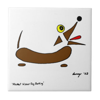 Abstract Wiener Dog Tile