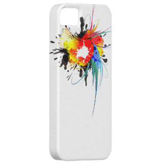 Abstract Wild Parrot Paint Splatters iPhone 5 Case