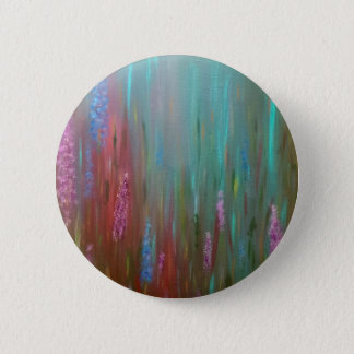 Abstract Wildflowers 2 Inch Round Button